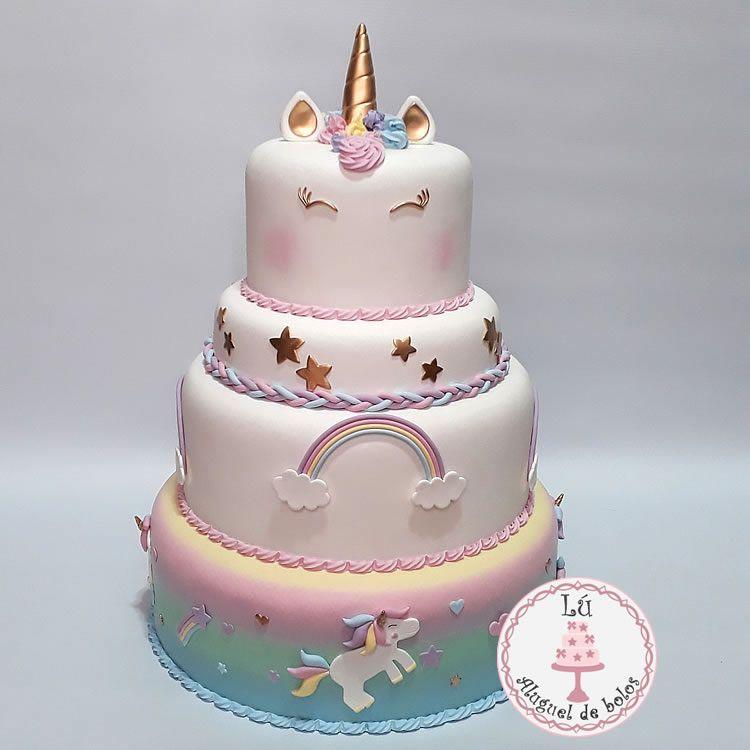 Lú Aluguel de Bolos Unicórnio moldes em 2019 Bolos de unicornio, Pasteles de unicornio e  -> Aluguel Decoração Festa Infantil Unicornio