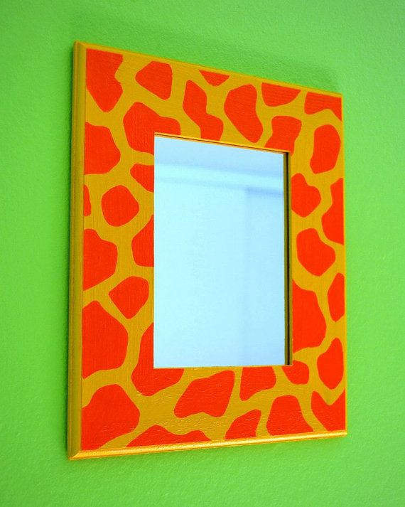 Personalized hand painted wall mirror for nurseries and for Kids room mirror