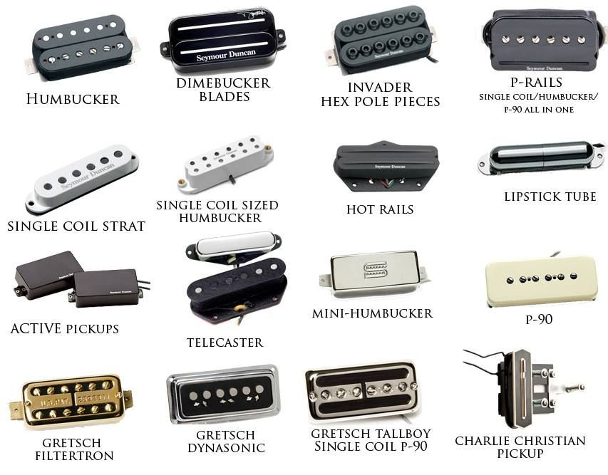 guitar pickup types | Pastillas de guitarra, Pedales de guitarra ...