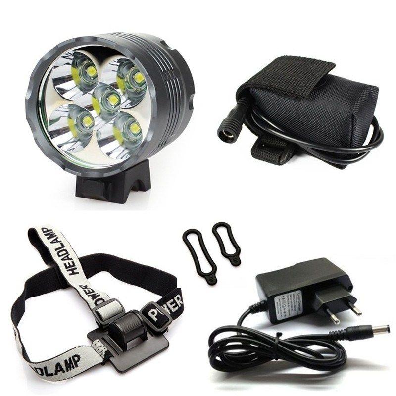 Lantern Xm L 5x T6 Bicycle Light Headlight 7000 Lumen Led Bike Light Lamp Headlamp 8 4v Charger 9600mah Battery Bike Lights Led Bike Lights Bicycle Lights