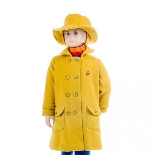 """A woollen winter coat for a girl """"Sun"""""""