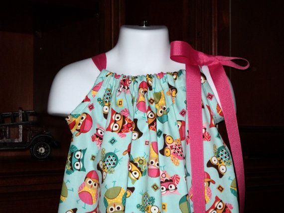Hoot Owls PIllowcase Dress