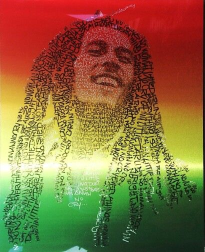 Bob Marley art by a lead monster @Ashley N Holland Patel # ...