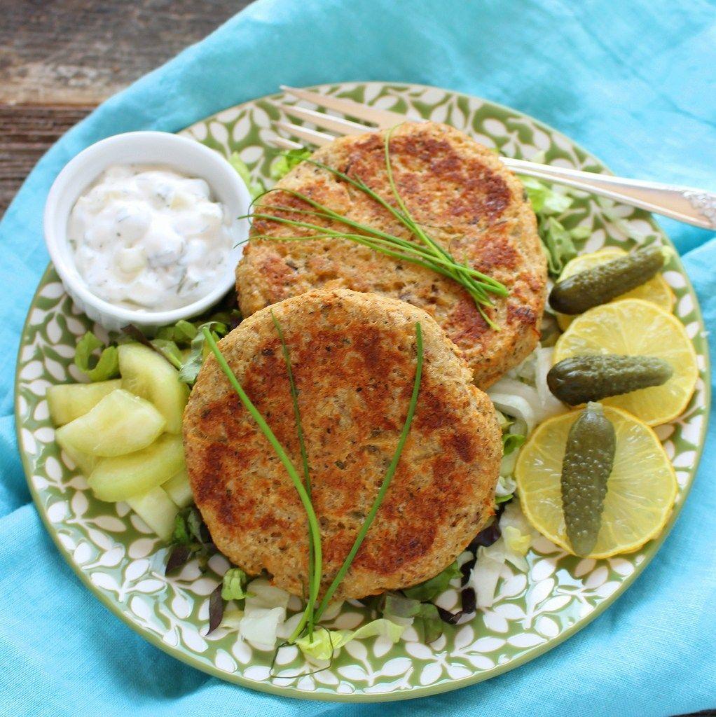 Salmon Cakes Retro Fish Burgers Healthy Fish Burger