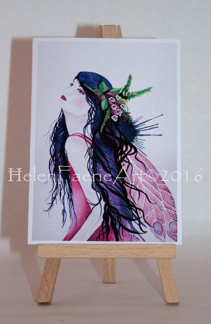 Fairy Birthday Card Fairy Greeting Card Purple Fairy Card