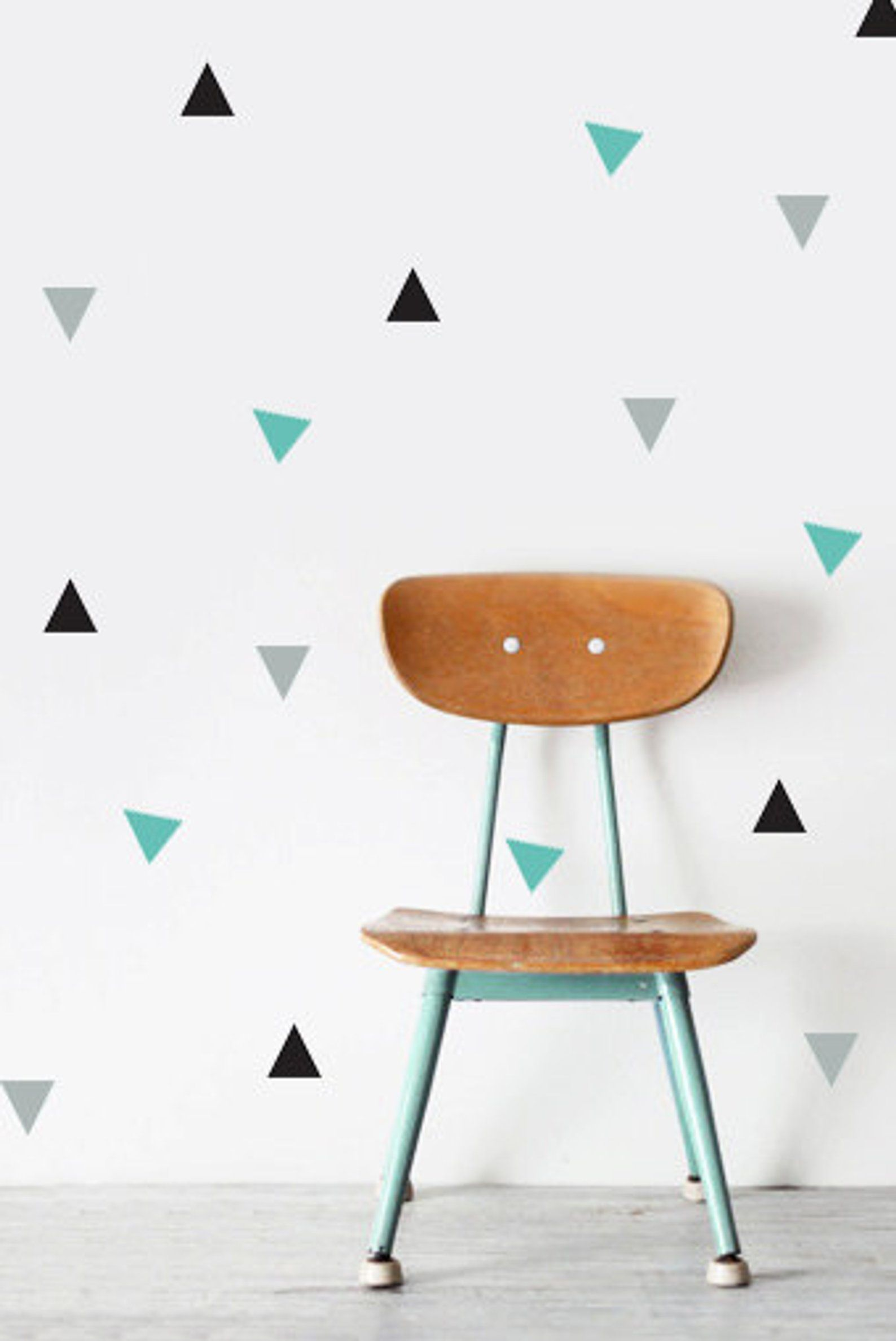 Triangle Vinyl Wall Pattern Triangle Sticker Set Of 64 Etsy