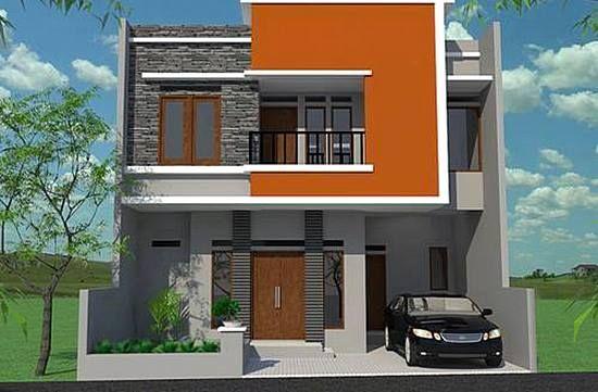 Tampak Depan Rumah Minimalis 2 Lantai Modern Desain Rumah