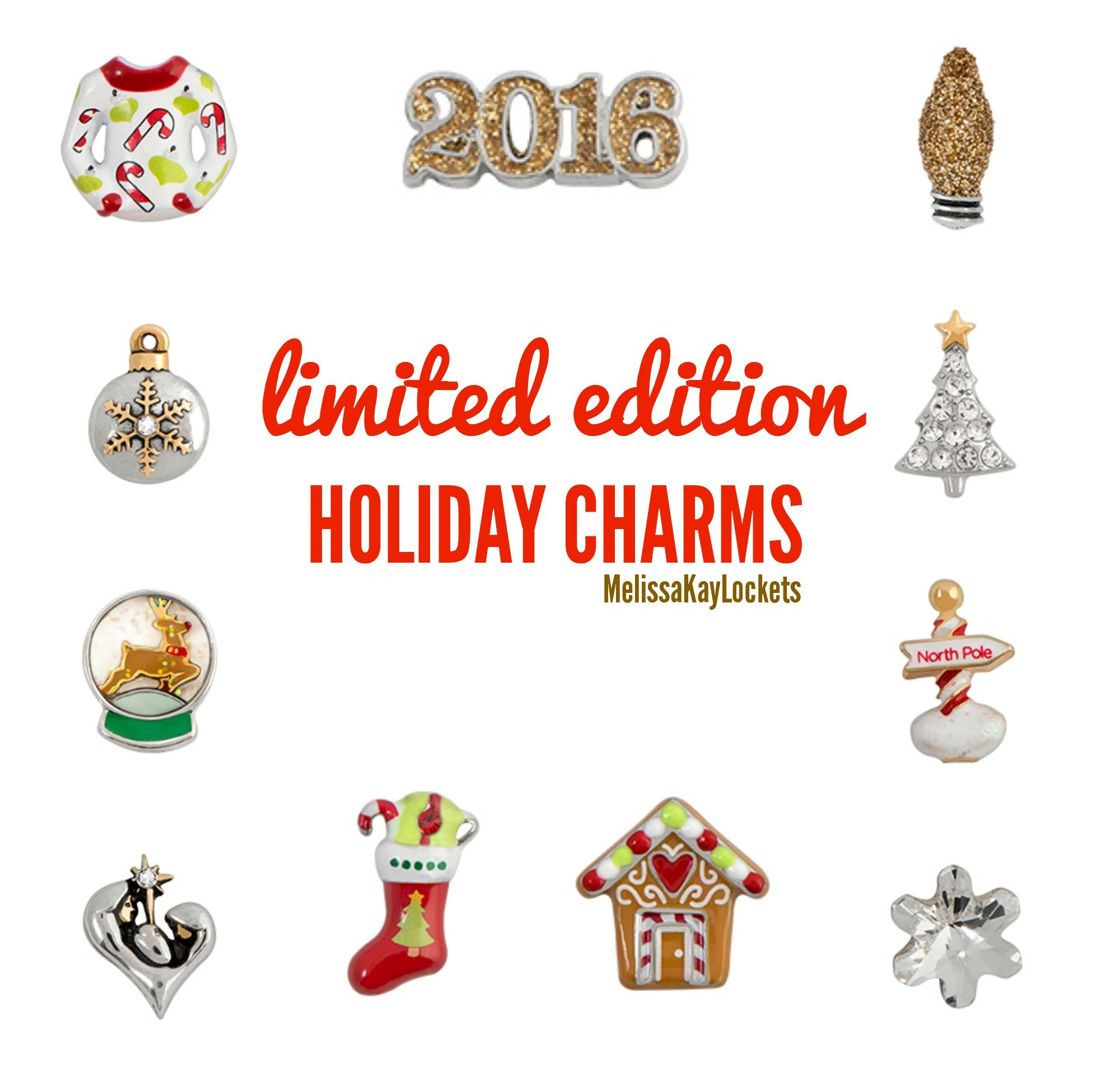 origami owl limited edition 2015 holiday charms