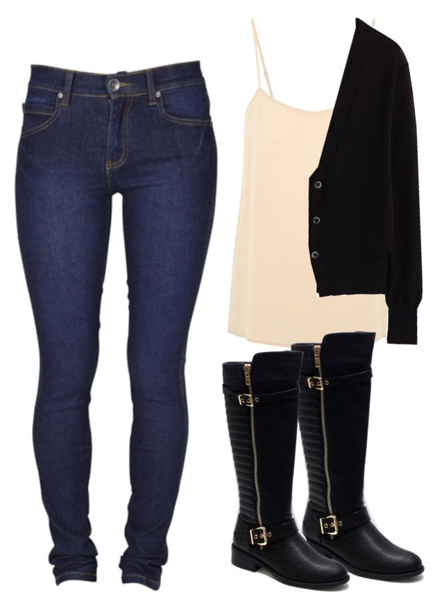 """""""Winter time"""" by babbieedee on Polyvore featuring Equipment, Dr. Denim, Uniqlo and Jacobies"""