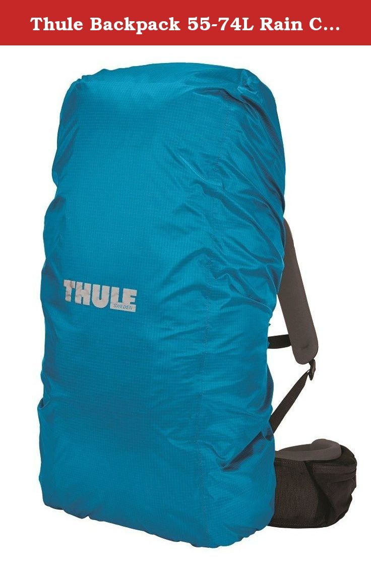 Thule Backpack 55-74L Rain Cover, Blue, Large. Protect your backpack from rain with Thule's packable universal raincover. Designed to be highly visible as well as lightweight and waterproof allowing you to keep going on the trail in all weather.