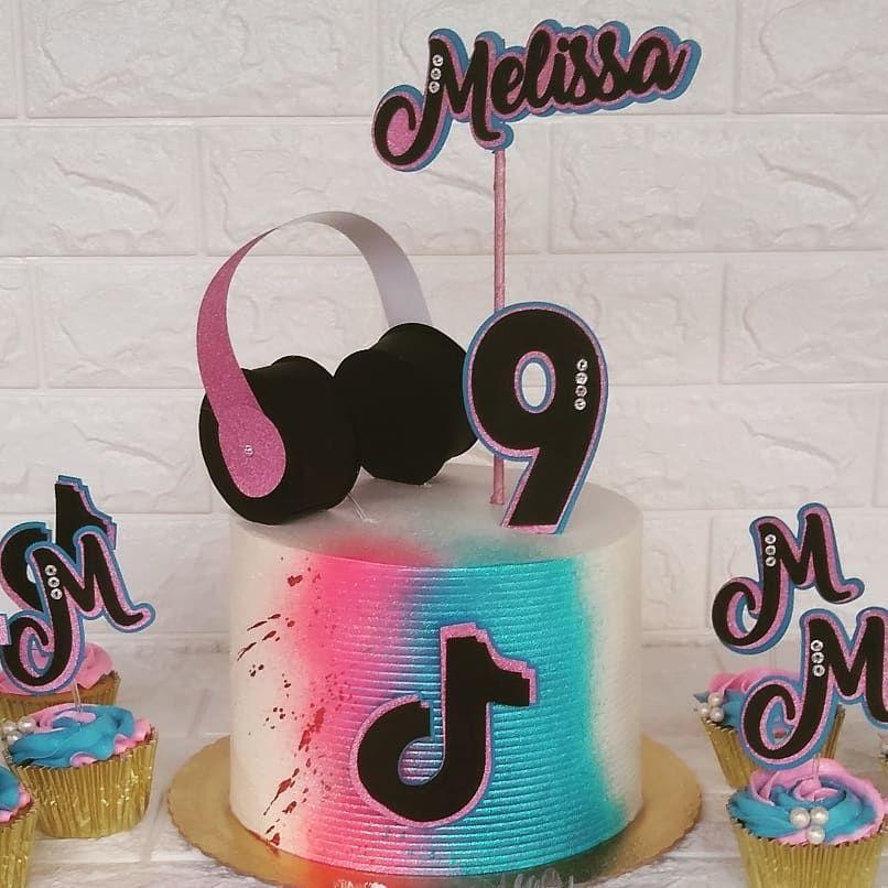 Bolo Tiktok Menina Kitfesta 14th Birthday Cakes Cake Toppers How To Make Cake