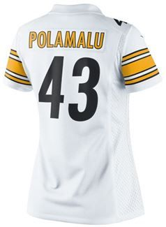38e4bdb840c Show details for Pittsburgh Steelers Nike Women s Troy Polamalu Limited  Away Jersey