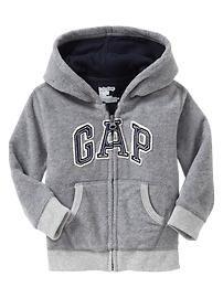 Arch logo fleece hoodie -Luca