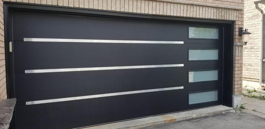 Modern Fiberglass Door 4 Panel Frosted Glass Modern Doors In 2020 Modern Door Garage Door Design Fiberglass Door