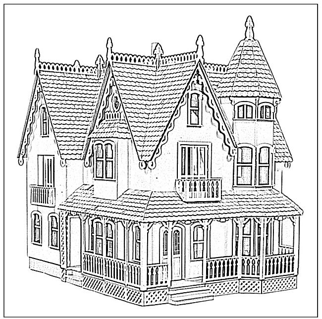 Doll House Coloring Book Custom Dollhouse The Dollhouse Miniatures Authority Coloring Books Coloring Pages House Colouring Pages