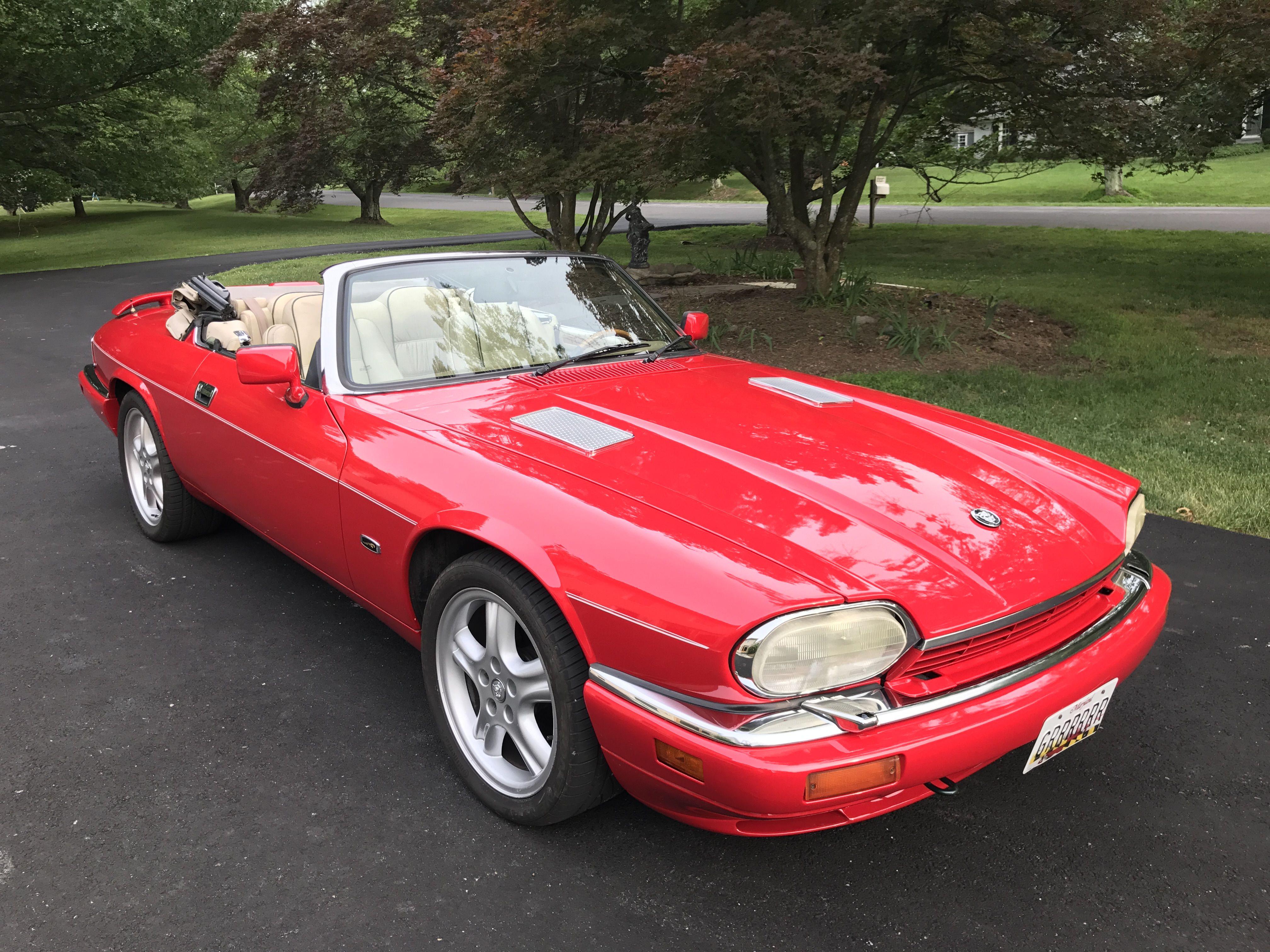 My 1994 Jaguar Xjs V12 Freshly Painted In Brilliant Red Jaguar Car Jaguar Xjs Convertible Jaguar