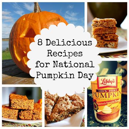 National Pumpkin Day Yummy Food Pumpkin Recipes Pumpkin Blondies Recipe