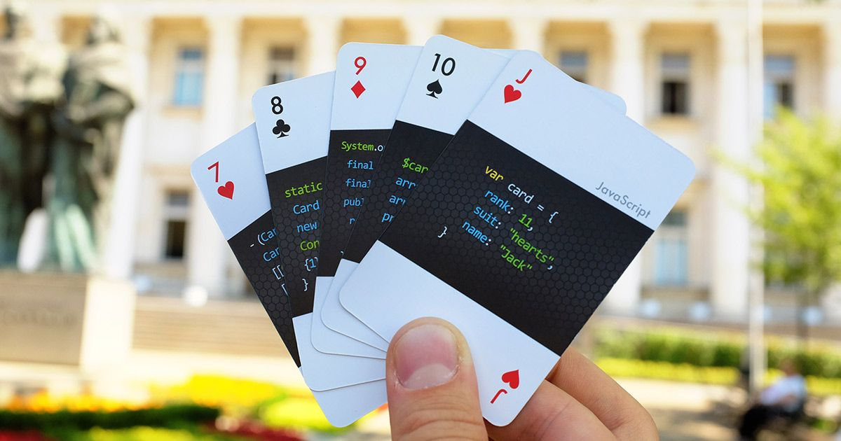 A Standard Playing Card Deck For Developers Each Individual Card