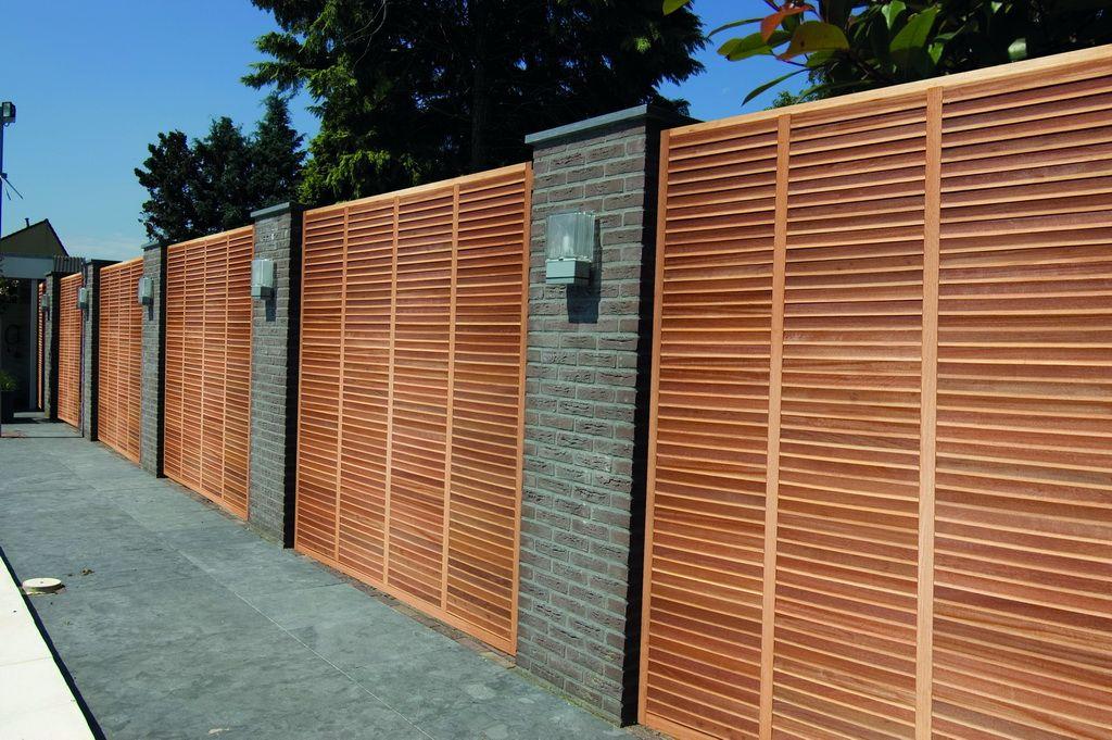 Wil je een moderne tuinafsluiting kies voor een for Moderne afsluiting tuin