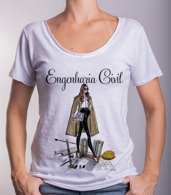 camisa feminina profissoes engenharia civil - Google Search