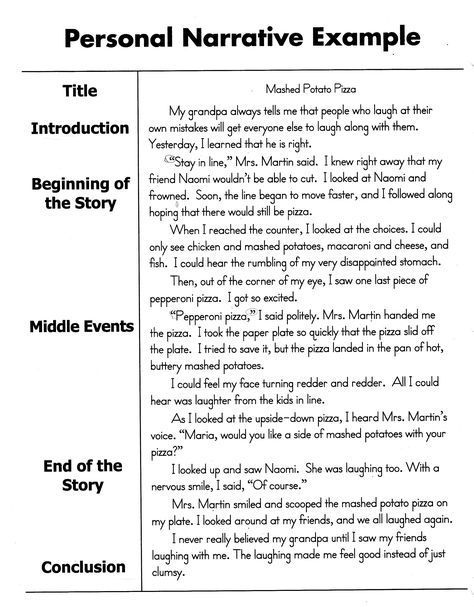 how to write a personal narrative essay for th th grade oc  how to write a personal narrative essay for 4th 5th grade oc narrative essay formal letter