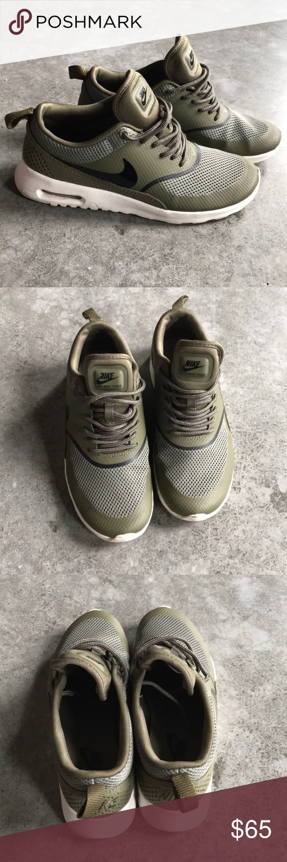 bba135bbd89f Olive green Nike Air Max Thea Hard to find this color! Size 6.5