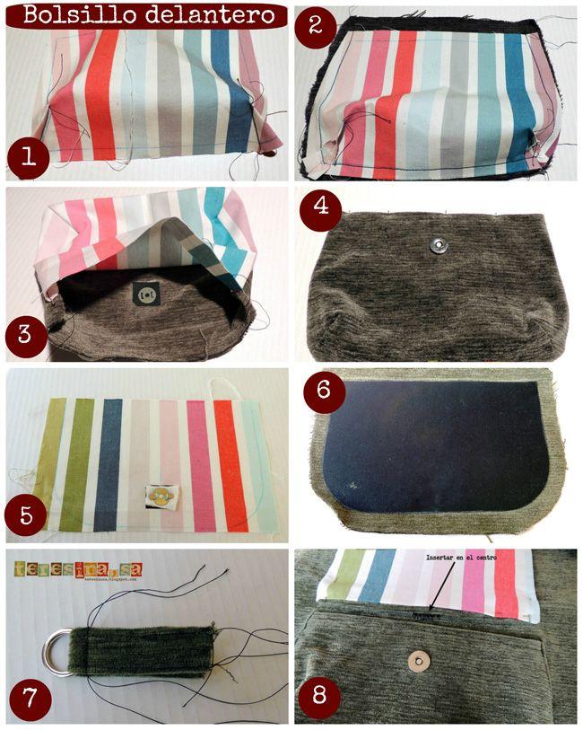 6c617fcbd paso a paso mochila | Manualidades | Sewing, Bags y Purses, bags