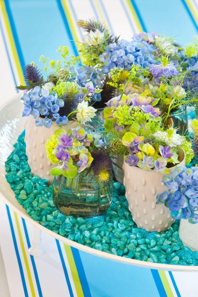 Hortensia in het blauw