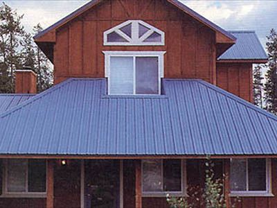 Standing Seam Metal Roof Blue Color Metal Roof Houses Exterior House Colors Metal Roof
