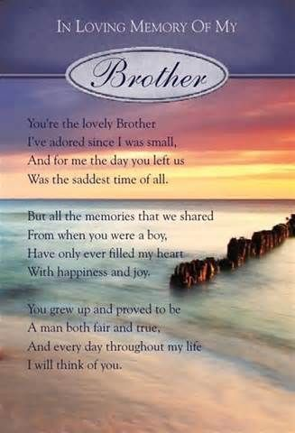 In Loving Memory Of A Brother Quotes Brother Quotes My Brother Quotes Birthday In Heaven Quotes