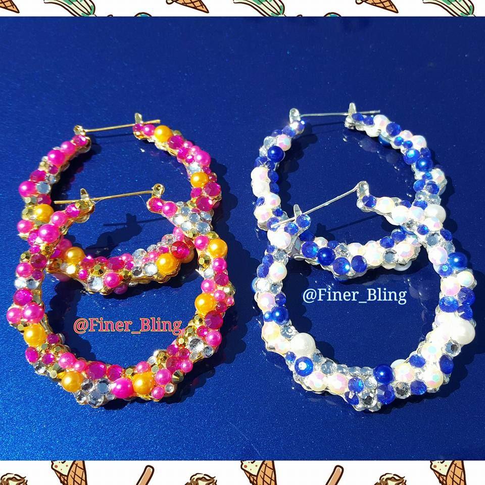 Bling Bamboo Earrings