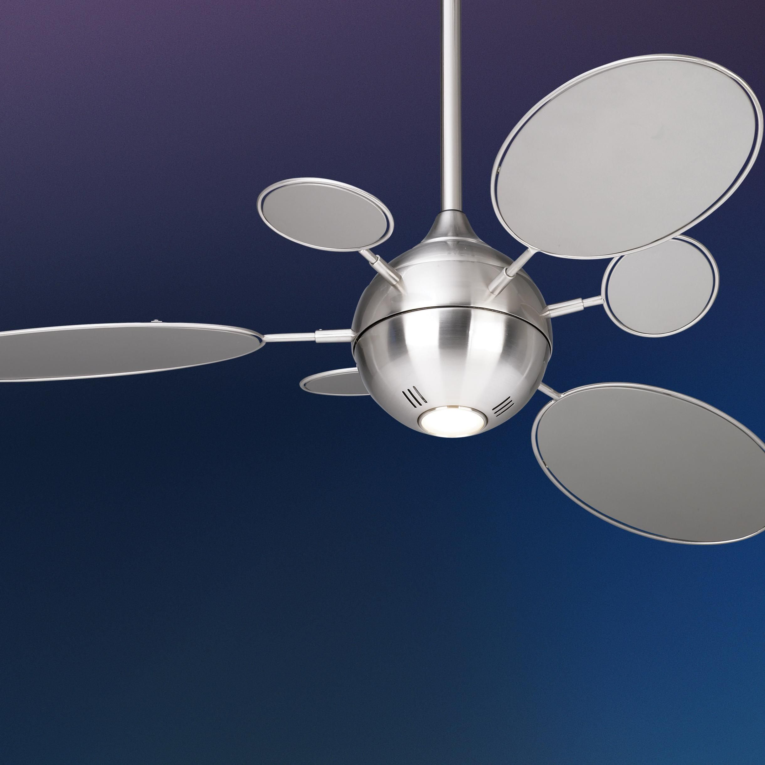 54 Minka Aire Cirque Brushed Nickel Ceiling Fan Lampsplus Com