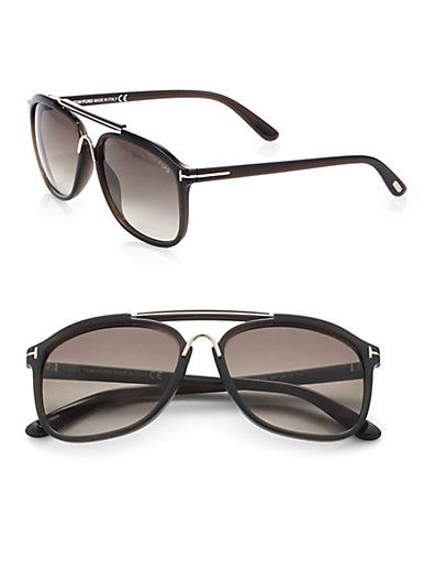 8733eb08dc Tom Ford Eyewear - Cade 58mm Round Aviator Sunglasses - Saks.com ...