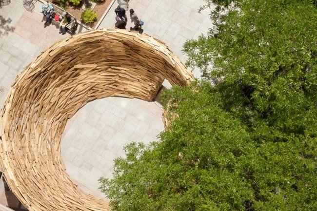 Vogelnest Holz Paletten Design Idee Vogelperspektive