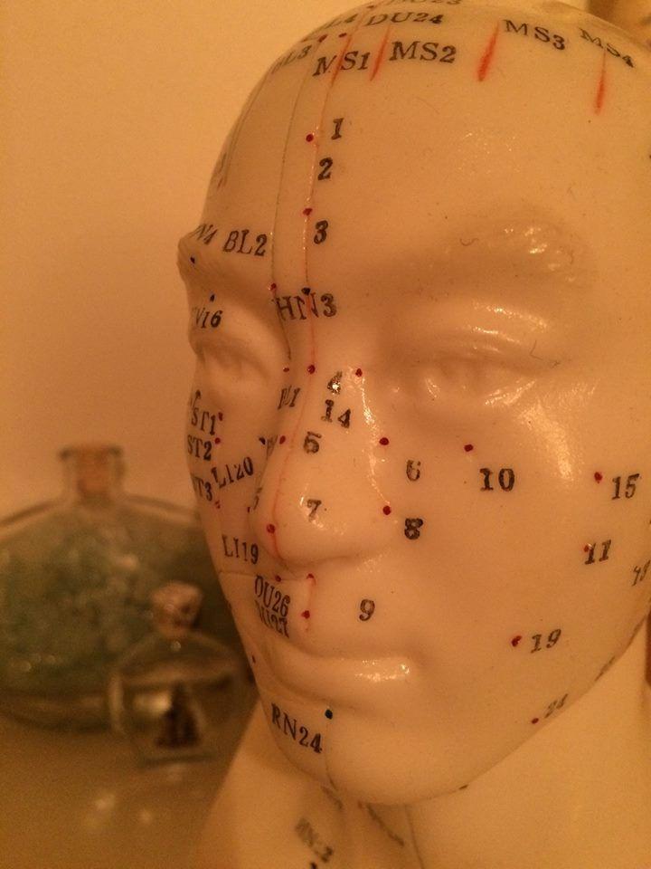 Meridianen in het gezicht