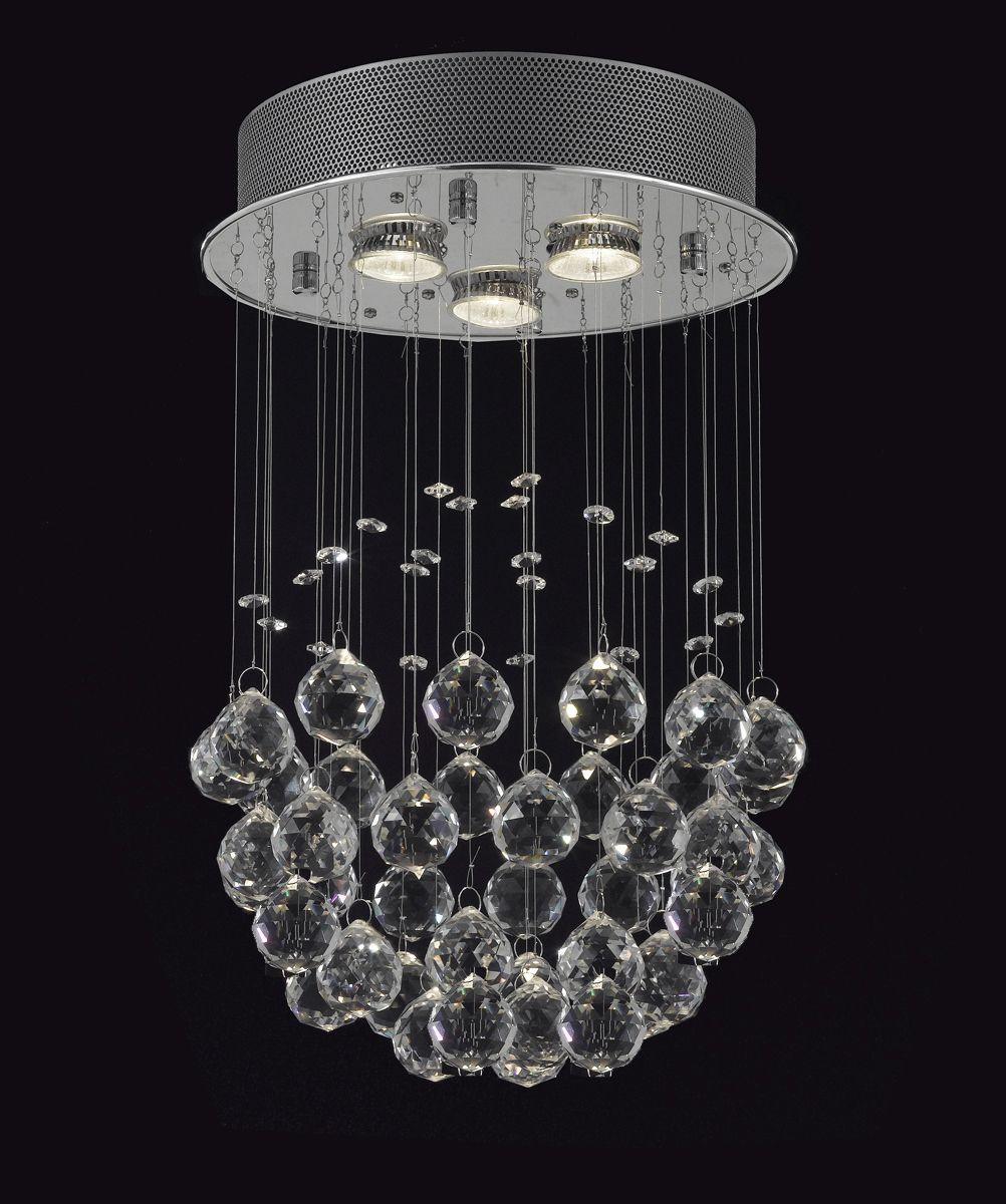 Modern Rain Drop Chandelier wCrystal Balls Modern