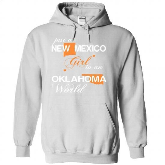 (NMJustCam002) Just A New Mexico Girl In A Oklahoma Wor - #teacher shirt #sweatshirt menswear. MORE INFO => https://www.sunfrog.com/Valentines/-28NMJustCam002-29-Just-A-New-Mexico-Girl-In-A-Oklahoma-World-White-Hoodie.html?68278