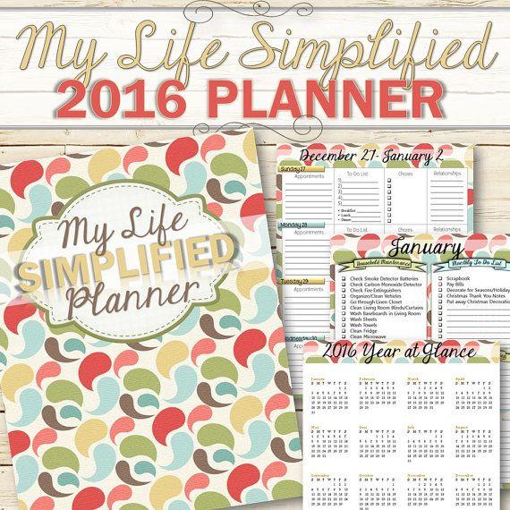 2016 Life Management Planner INSTANT DOWNLOAD di TimeSavors