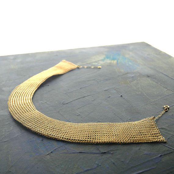 Jewelry pattern CLEOPATRA wire crochet Necklace , PDF tutorial step ...
