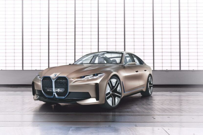 Bmw I4 Concept Rendered With Normal Sized Kidney Grilles Bmw