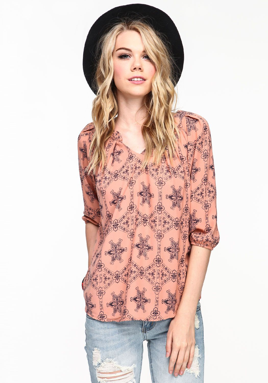 Baroque Print Top