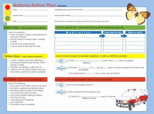 40 asthma Action Plan form | Asthma treatment, Asthma ...