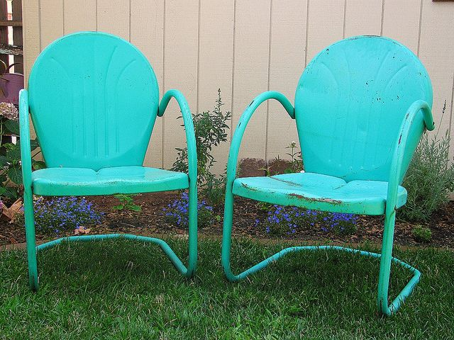 Retro Chairs My Favorite Color Metal Lawn Chairs