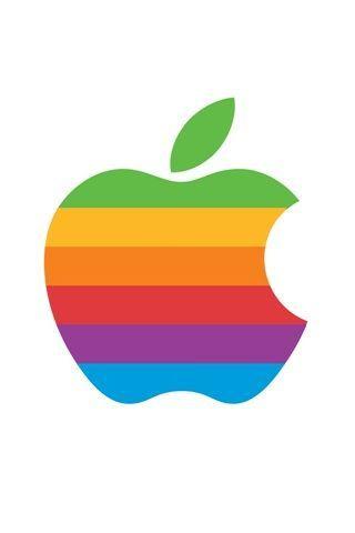 Retro apple logo iphone background company logos - Original apple logo wallpaper ...