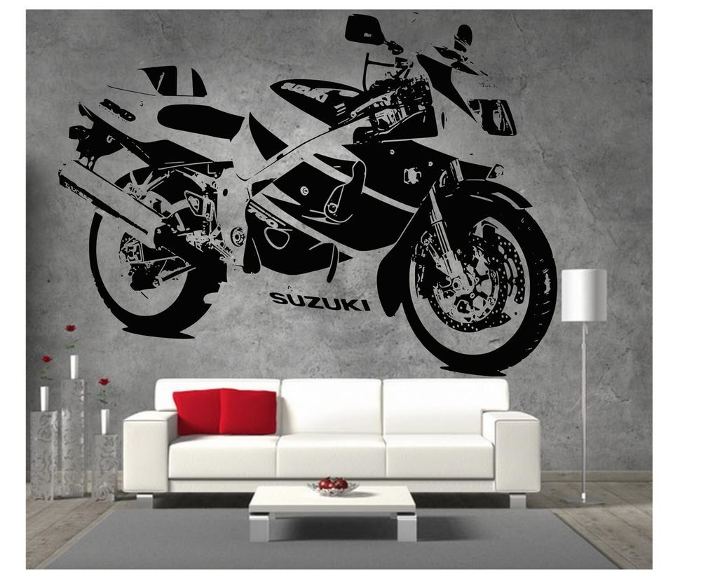 Ducati 1199 Panigale Moto GP Racing Moto Vinyle Autocollant Mural Art Garage