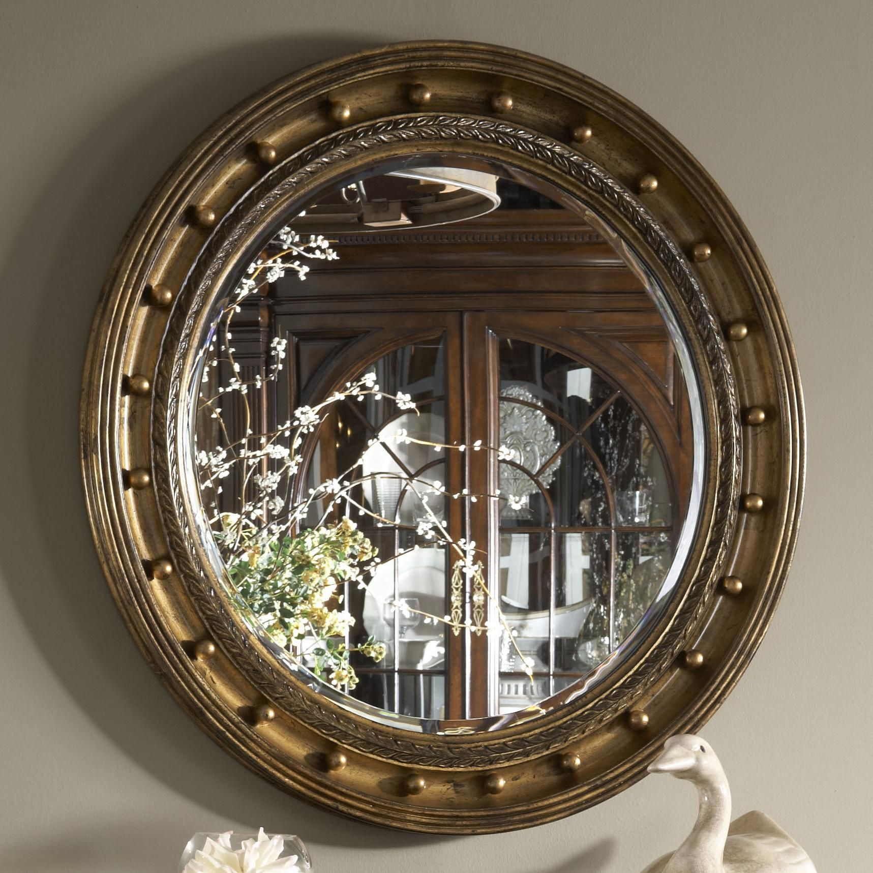 Belmont Westminster Looking Glass With Gold Leaf By Belfort