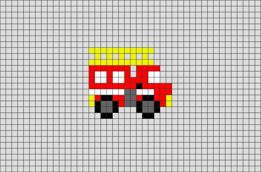 Fire Truck Pixel Art Pixel Art Point De Croix Et Pompier