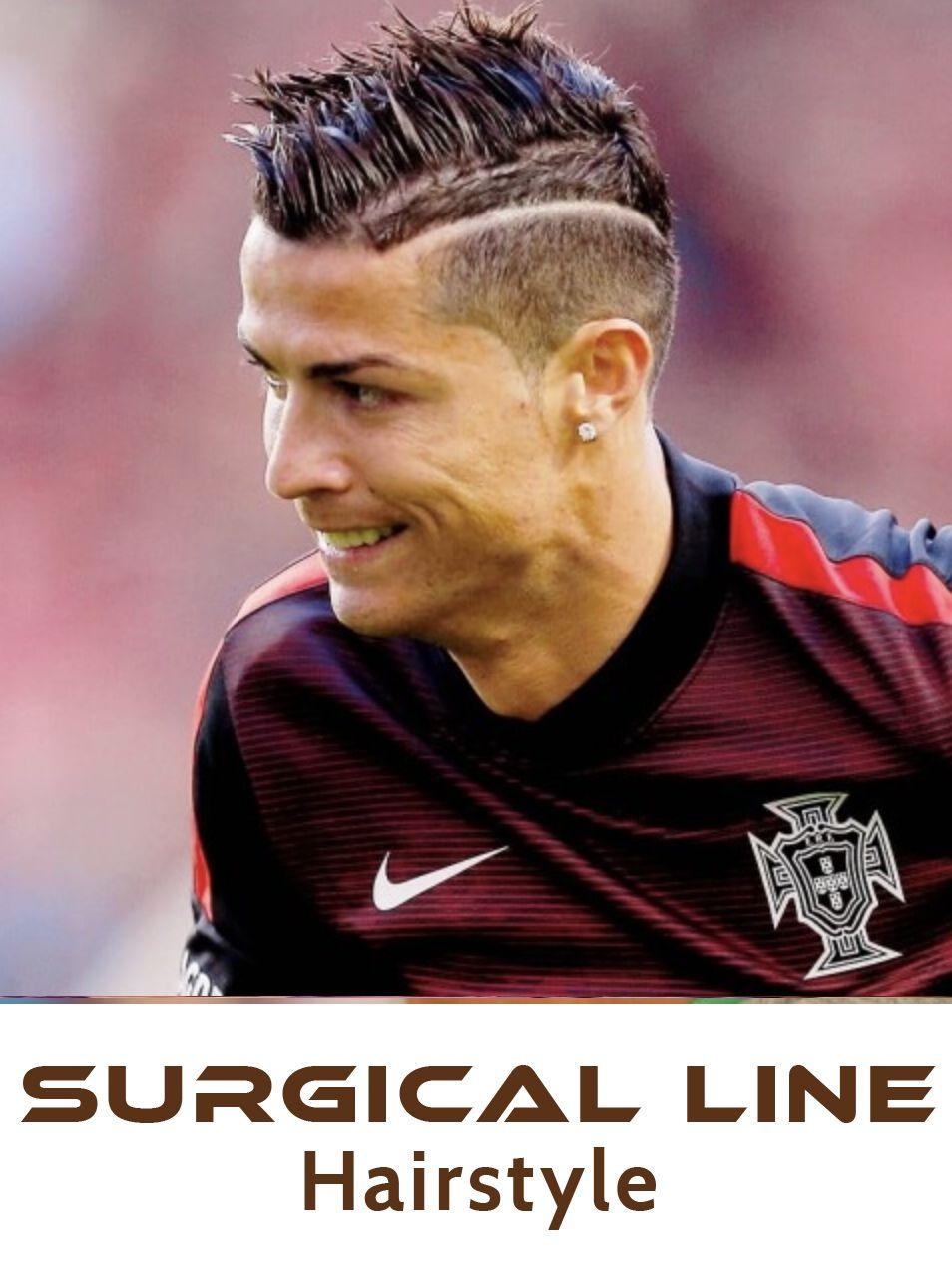 cristiano ronaldo surgical line hairstyles. ronaldo haircut
