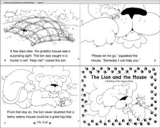 photo regarding The Lion and the Mouse Story Printable called The Lion and the Mouse Tasks toward Check out Lion, the mouse