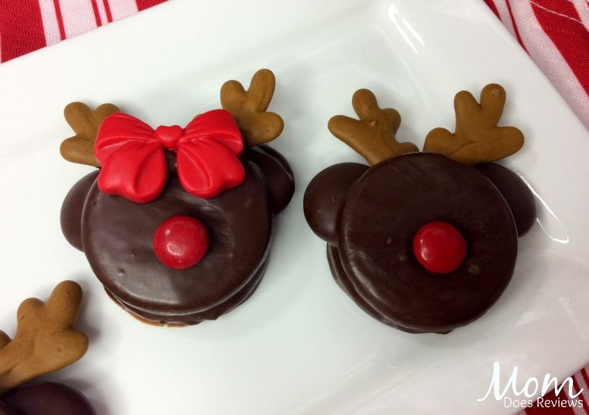 Mickey And Minnie Rudolph Cookies Cute Cookies Cream Of Tarter